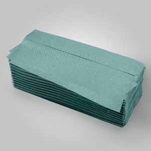 C-Fold Hand Towels Green